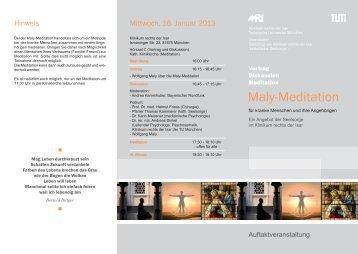 MALY-Meditation - Klinikum rechts der Isar - Technische Universität ...