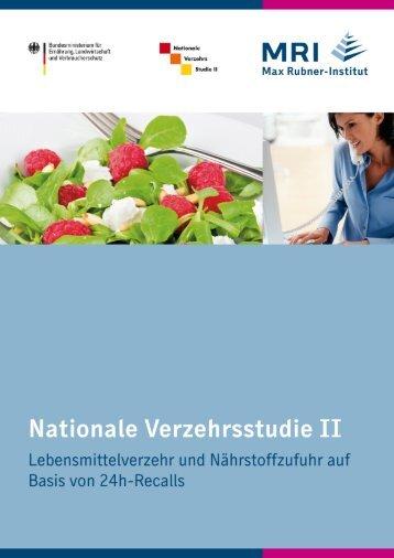 Ergebnisse der 24h-Recalls - Max Rubner-Institut - Bund.de