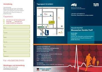 Flyer Moosacher Kardio-Treff - Klinikum rechts der Isar - Technische ...