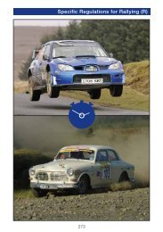 Specific Regulations for Rallying - MSA