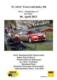 Rallye Guide 2013 - MSC Altenkirchen