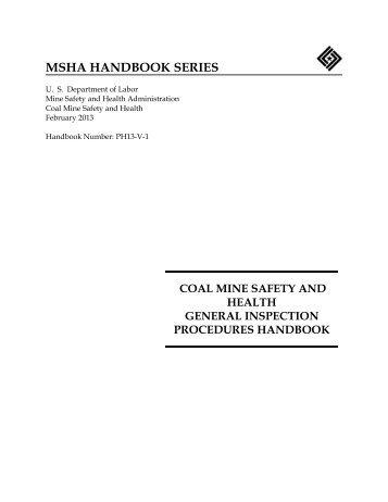 MSHA HANDBOOK SERIES - PH13-V-1 - Mine Safety and Health ...
