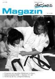 MSJ-Magazin 2/2008 - Münchner Sportjugend