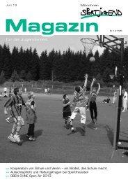 MSJ Magazin 2/2013 - Münchner Sportjugend