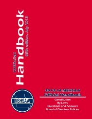 2013-14 MSHSAA Official Handbook Official 85th edition, July 2013