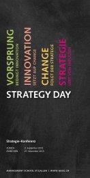 Strategie-Konferenz Strategy Day - Management School St.Gallen