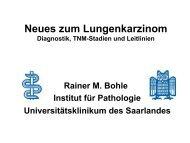 Diagnostik, TNM-Stadien und Leitlinien