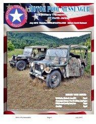 July 2013 Motor Pool Messenger - Military Transport Association