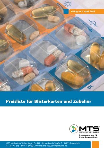Download Preisliste - MTS Medication Technologies GmbH