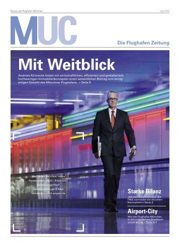"""""""MUC - Die Flughafen Zeitung"""" 04/13 (April) (pdf)"""