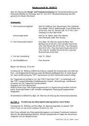 Niederschrift 25.06.2013 - Gemeinde Mühltal
