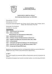 Niederschrift 08.03.2013 - Gemeinde Mühltal