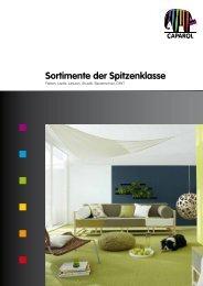 Sortimente der Spitzenklasse - Caparol Farben AG