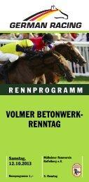 Rennprogramm Mülheim a.d. Ruhr - 12-10-2013 - Mülheimer ...