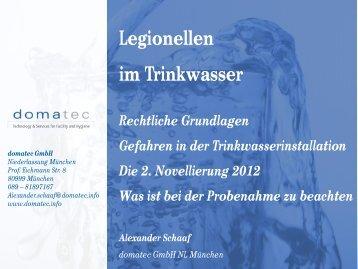 Legionellen im Trinkwasser - muenchner-fachforen.de