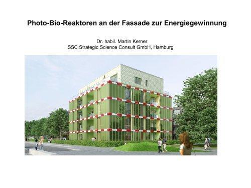 Photo-Bio-Reaktoren an der Fassade zur Energiegewinnung ...