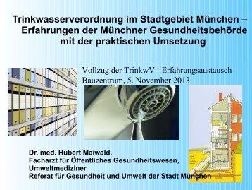Trinkwasserverordnung im Stadtgebiet München - muenchner ...