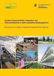 Soziales Zusammenleben, Integration und Wohnzufriedenheit in ...