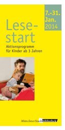 Lesestart - Aktionsprogramm im Januar (PDF) - Münchner ...