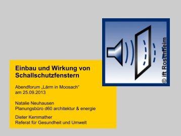 Einbau und Wirkung von Schallschutzfenster - muenchner-fachforen.de