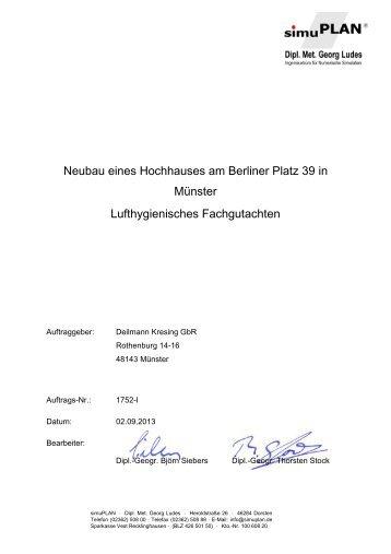 Lufthygienisches Fachgutachten zum Neubau eines Hochhauses ...