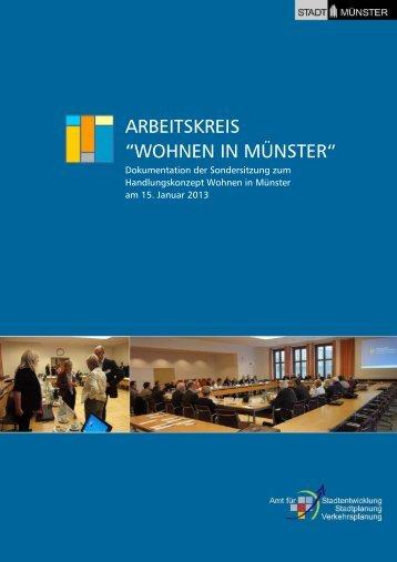 """Arbeitskreis """"Wohnen in Münster"""" - Stadt Münster"""