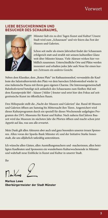 Programm Schauraum 2013 - Stadt Münster