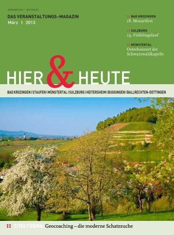 20.00 Uhr - Ferienregion Muenstertal Staufen