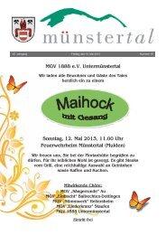 MGV 1888 e.V. Untermünstertal Sonntag, 12. Mai 2013, 11.00 Uhr ...