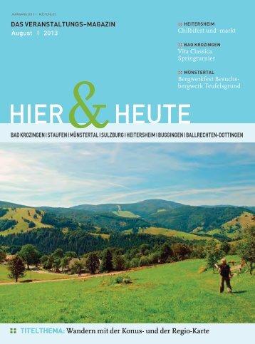 15.00 Uhr - Ferienregion Muenstertal Staufen