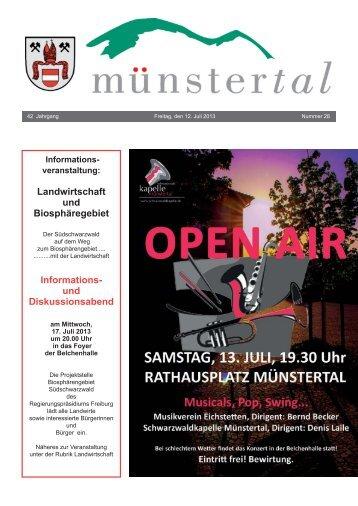 Landwirtschaft und Biosphäregebiet Informations- und ... - Münstertal