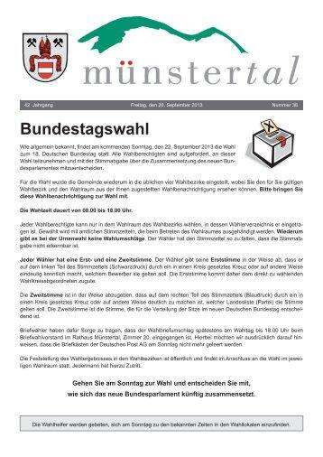 Bundestagswahl - Münstertal