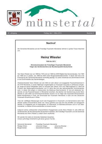 Heinz Wiesler - Münstertal