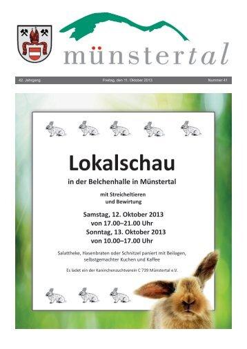 Lokalschau - Münstertal