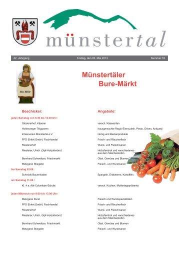 Münstertäler Bure-Märkt - Münstertal