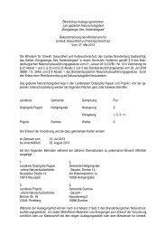 Öffentliches Auslegungsverfahren zum geplanten ... - MUGV