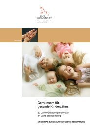 Gemeinsam für gesunde Kinderzähne - MUGV - Brandenburg.de