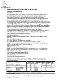 Hygienemaßnahmen für Rettungs- und qualifizierte ... - MUGV