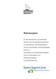 Rahmenplan Krankenpflege - MUGV - Land Brandenburg