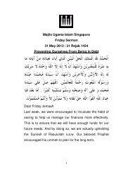 Majlis Ugama Islam Singapura Friday Sermon 31 May 2013 ... - MUIS