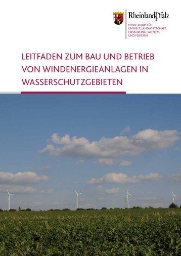 Leitfaden zum Bau und BetrieB von WindenergieanLagen in ...