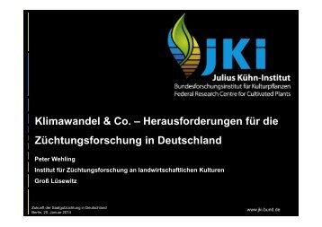 Herausforderungen für die Züchtungsforschung in Deutschland