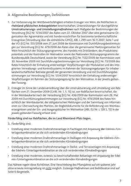 richtlinie - Ministerium für Umwelt, Landwirtschaft,Ernährung ...