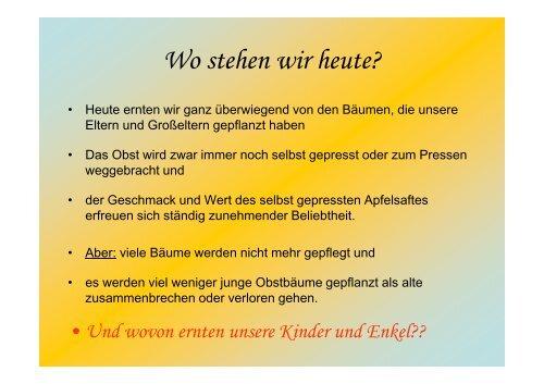 Obstbaum-Jahrhundert-Zählung 2013+