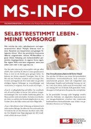 selbstbestimmt leben - Schweizerische Multiple Sklerose Gesellschaft