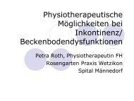 Physiotherapeutische Möglichkeiten bei Inkontinenz