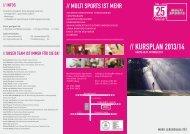 Download Kursplan mit Kursbeschreibung - Sportcenter Multi Sports
