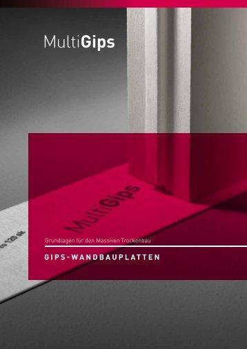GIPS-WANDBAUPLATTEN - Multigips DE