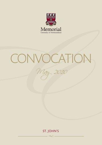 Spring 2010 - Memorial University of Newfoundland