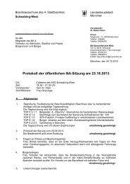 Protokoll - Rathaus